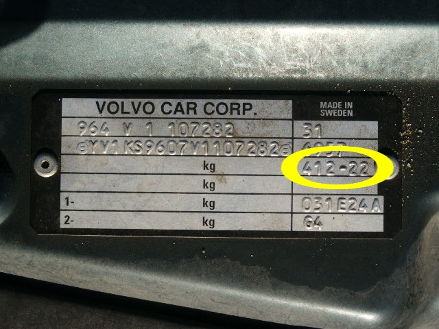 where's do I find my Trim Code? - Volvo Forums - Volvo ...